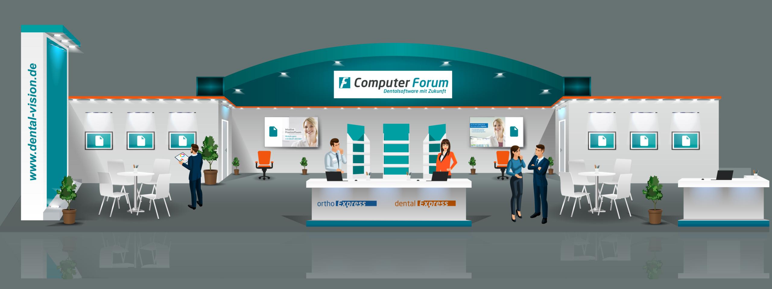 VDDS Frühjahrsmesse 2021 - Messestand der Computer Forum GmbH