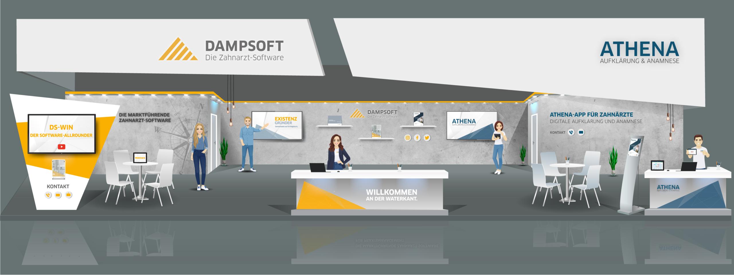 VDDS Frühjahrsmesse 2021 - Messestand der DAMPSOFT GmbH