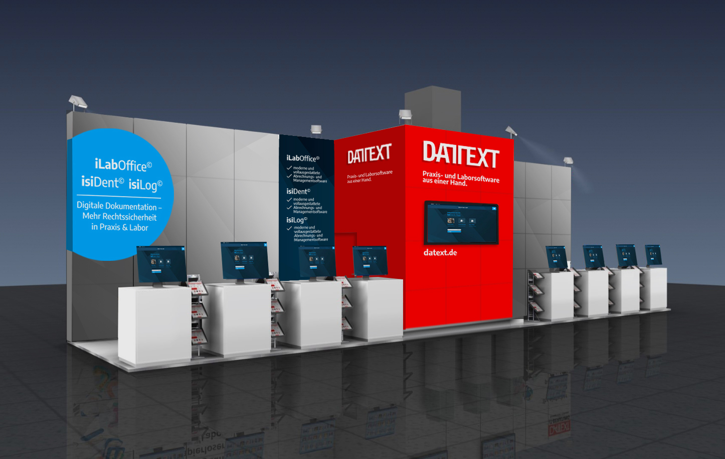 VDDS Frühjahrsmesse 2021 - Messestand der DATEXT GmbH