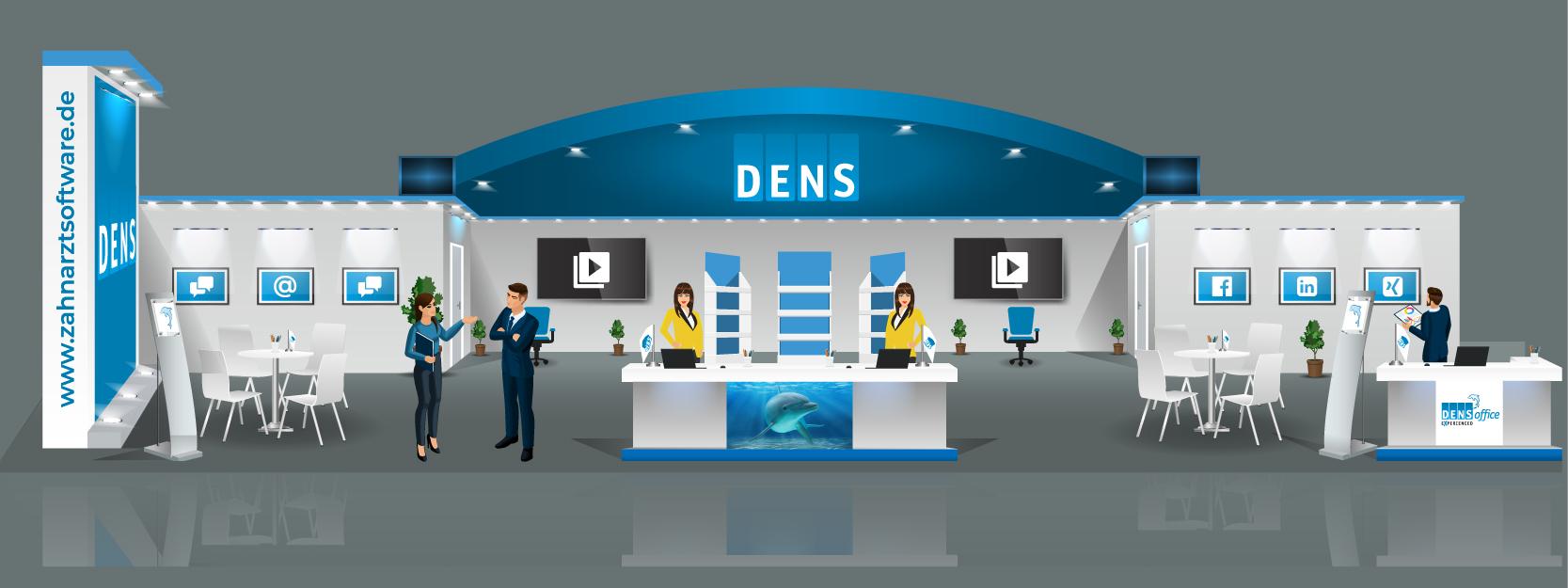 VDDS Frühjahrsmesse 2021 - Messestand der DENS GmbH