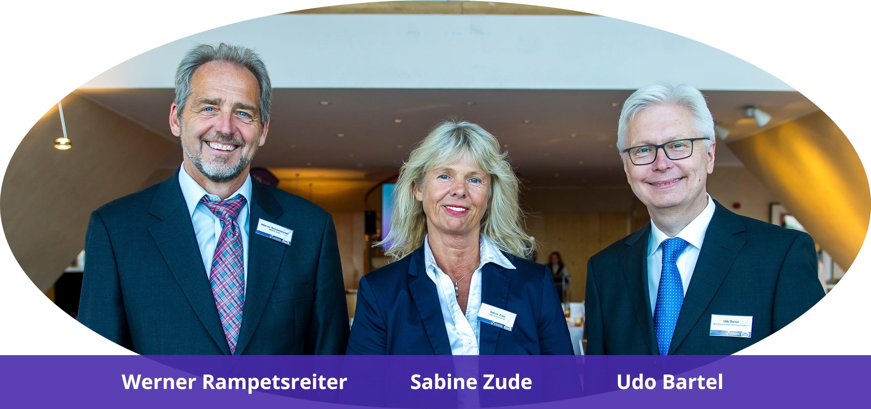 Vorstand des VDDS e.V. - Werner Rampetsreiter, Sabine Zude, Udo Bartel